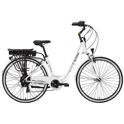 Rower elektryczny  city l biały + darmowy transport! marki Ecobike