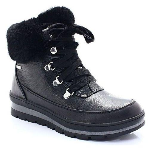 9-26220-21 czarne - śniegowce do -30 c - czarny, Caprice