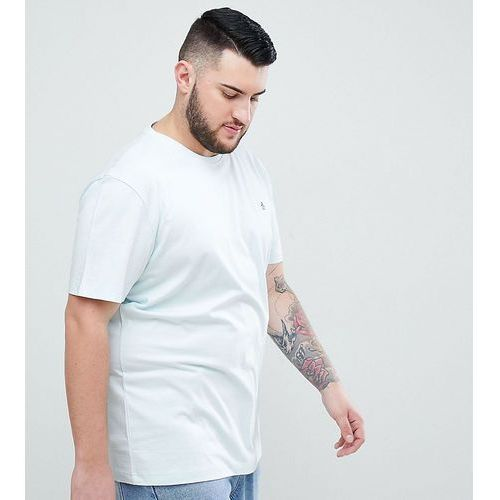 Original Penguin Big & Tall small logo crewneck slim fit t-shirt in light blue - Blue, w 2 rozmiarach
