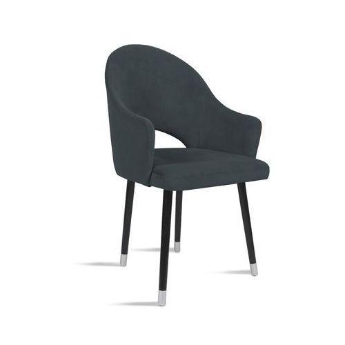 Krzesło BARI ciemny szary/ noga czarny silver/ TR15