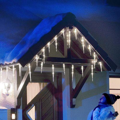 Zasłona świetlna sopel lodu LED z 32 soplami 7,75m