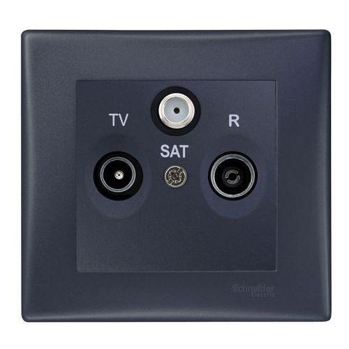 Schneider electric Gniazdko r/tv/sat sedna (3606480762598)