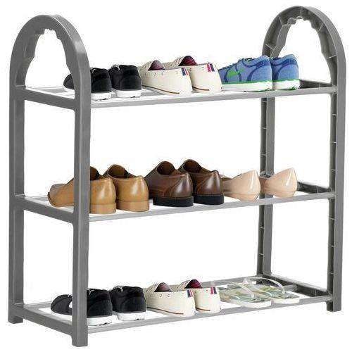 Regał na buty z metalowymi 3 półkami szafka ciemnoszary (5907719416038)