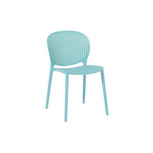 Krzesło do jadalni niebieskie HOLMDEL