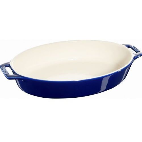 Staub naczynie do pieczenia owalne ciemnoniebieskie 29cm
