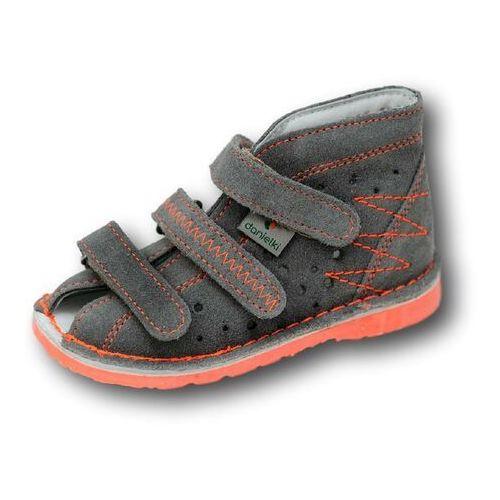 Danielki profilaktyczne buty wzór ta105/ta115 szary fluop