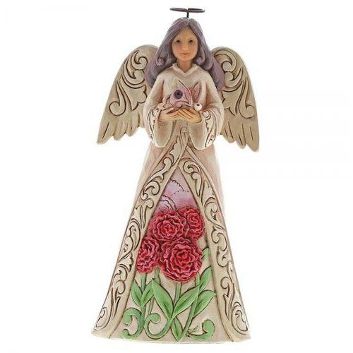 Anioł styczeń patron urodzonych w styczniu january angel 6001562 - pamiątka narodzin, chrztu figurka dewocjonalia marki Jim shore