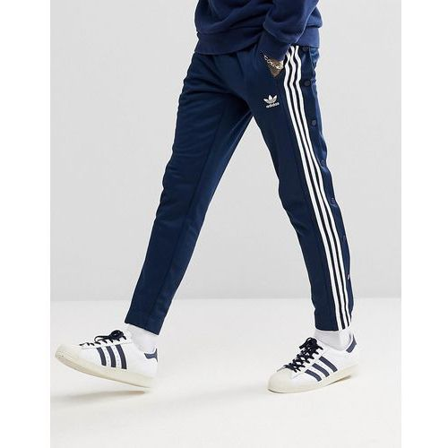 adicolor popper joggers in navy cw1285 - navy marki Adidas originals