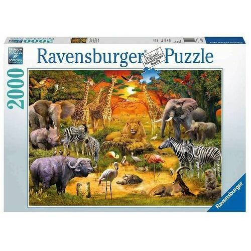 Ravensburger Puzzle 2000 elementów - spotkanie dzikich zwierząt