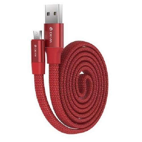 Kabel DEVIA Ring Y1 micro USB Czerwony (6952897998608)