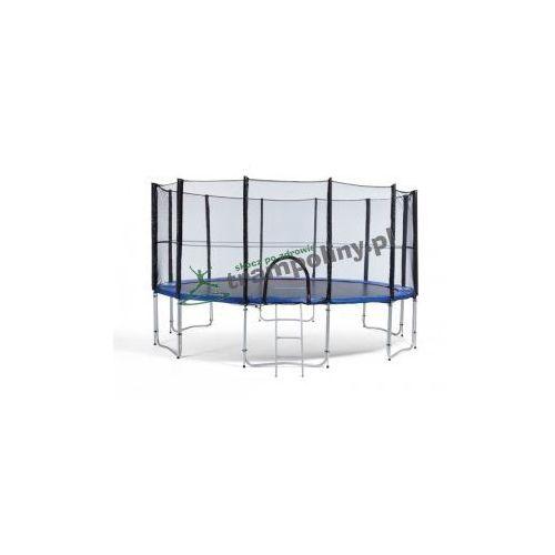 427 cm - trampolina ogrodowa z siatką zabezpieczającą + drabinka marki Athletic24
