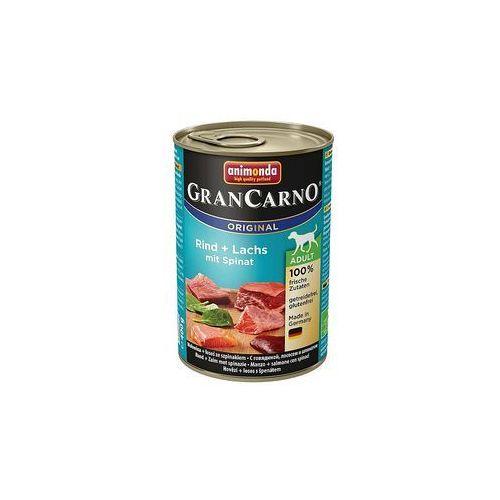 ANIMONDA GRANCARNO wołowina i łosoś 400g puszka - karma mokra dla dorosłych psów - zestaw 30szt. [dostawa od 8,59zł, Firma Rodzinna]