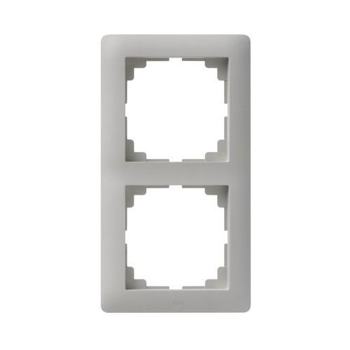 Elektro-plast Ramka podwójna astoria szary