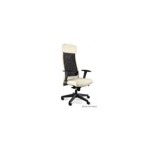Unique meble Krzesło biurowe ares soft pu ekoskóra beżowy