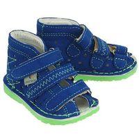 DANIELKI TA105 blue fluo, obuwie rehabilitacyjno-profilaktyczne dziecięce - Niebieski