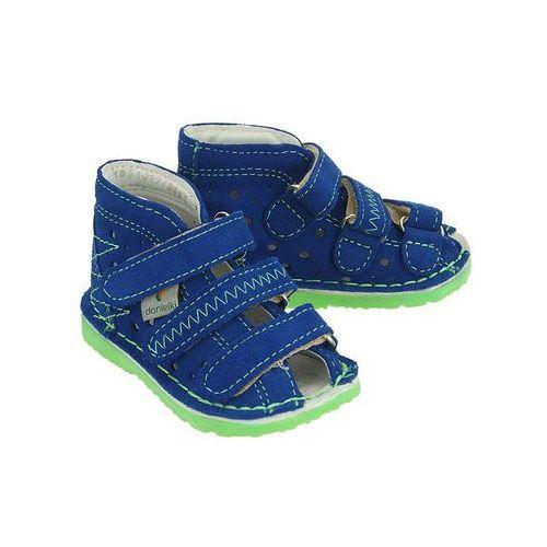 ta105 blue fluo, obuwie rehabilitacyjno-profilaktyczne dziecięce - niebieski marki Danielki