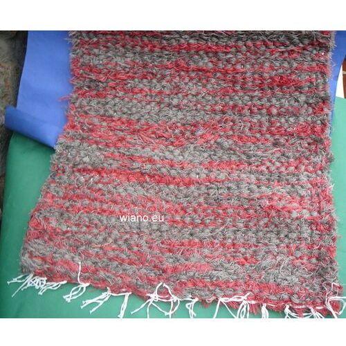 Spółdzielnia twórców ludowych Chodnik bawełniany ręcznie tkany szaro-ceglasty 50x100 (k-19)