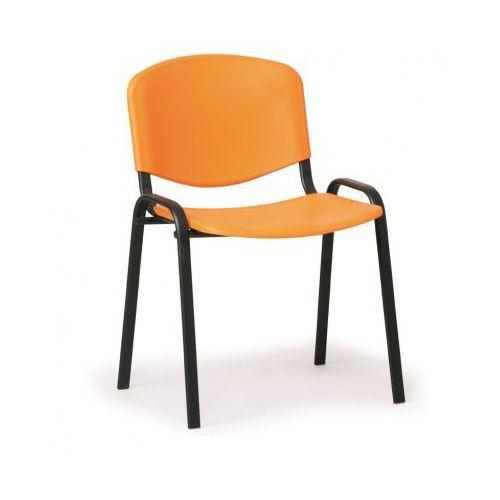 B2b partner Plastikowe krzesło iso, pomarańczowy - kolor konstrucji czarny