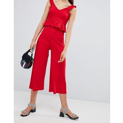 New Look Wide Leg Culottes - Red, culotte