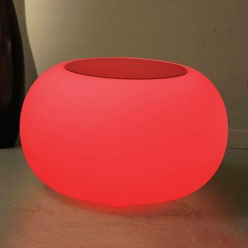Stolik BUBBLE, światło LED RGB i czerwony filc (4260218361911)