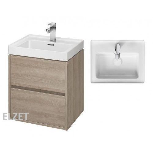 Cersanit szafka crea dąb + umywalka crea 50 s924-007+k114-005