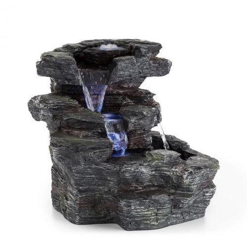 Blumfeldt rochester falls fontanna ogrodowa ipx8 6 w tworzywo polyresin 3 diody led imitacja kamienia