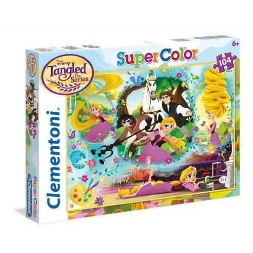 Puzzle SuperColor Księżniczki Roszpunka 104
