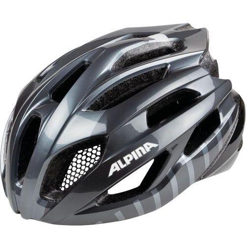 Alpina fedaia kask rowerowy szary/czarny 53-58cm 2018 kaski rowerowe (4003692273147)