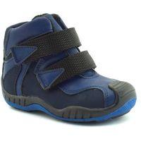 Buty zimowe dla dzieci marki Kornecki 06385 Granatowe - Czerwony ||Granatowy