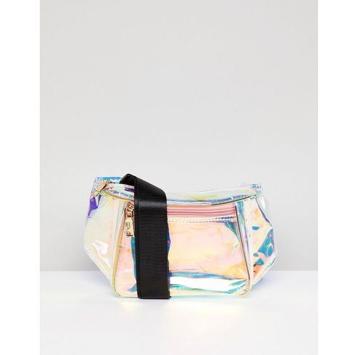 Yoki fashion irridescent bum bag - silver
