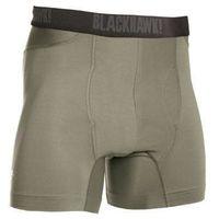 """Slipy engineered fit boxer briefs, męskie materiał 92% nylon 8% spandex, krótkie 6"""" - foliage gray marki Blackhawk"""