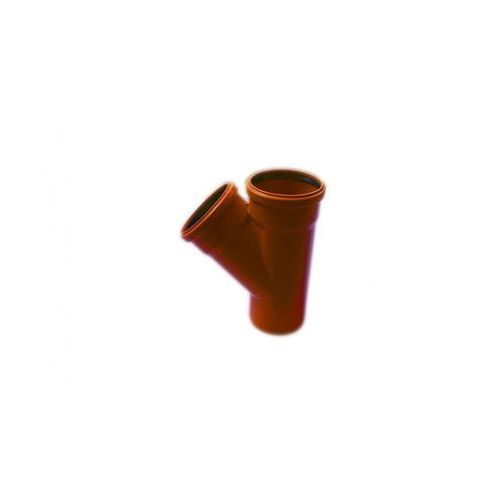 Trójnik kanalizacji zewnętrznej 110 x 110 mm/45° POLIPLAST