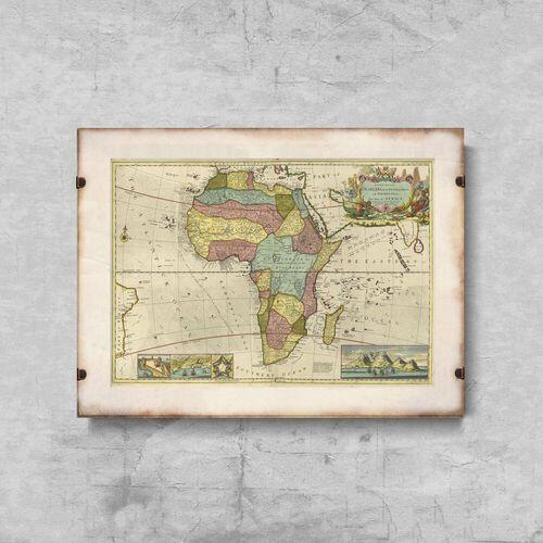 Plakat retro do salonu Plakat retro do salonu Mapa Afryki
