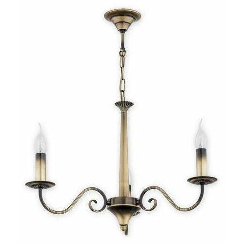 Lemir Asti O2893 W3 Pat lampa wisząca zwis 3X60W E14 patyna, kolor Złoty