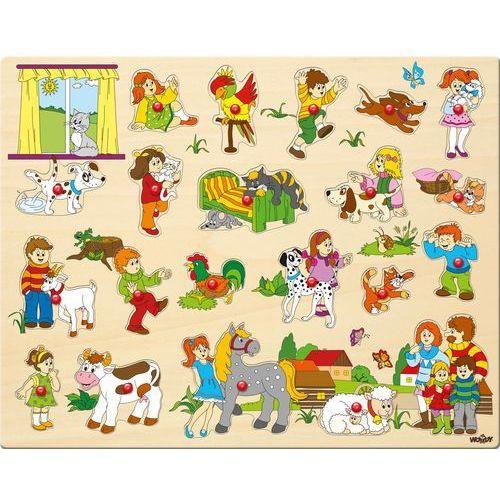 Woody duże puzzle z mocowaniami