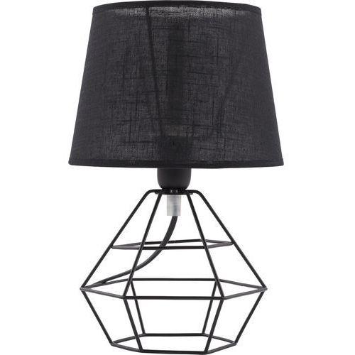 Lampa lampka stołowa druciana oprawa biurkowa diament TK Lighting Diamond 1x60W E27 czarna 843 (5901780508432)
