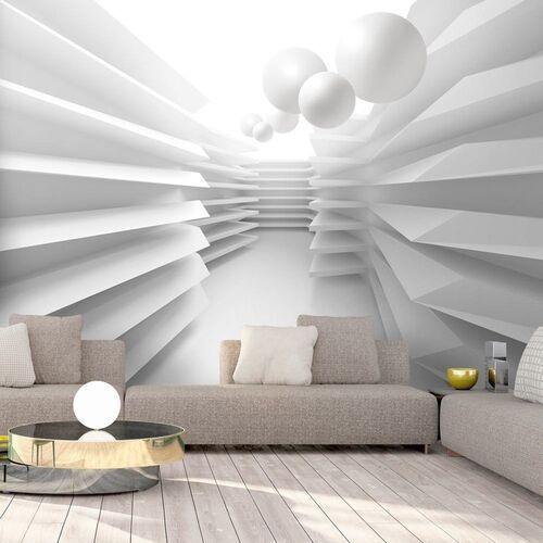 Artgeist Fototapeta - biały labirynt