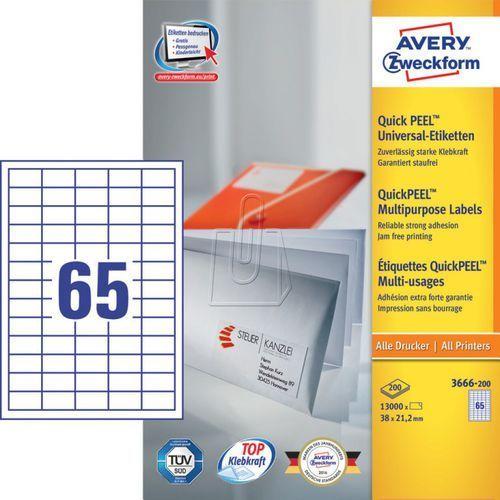 Avery zweckform Etykiety uniwersalne  trwałe 38 x 21,2mm 200 ark./op. 3666-200