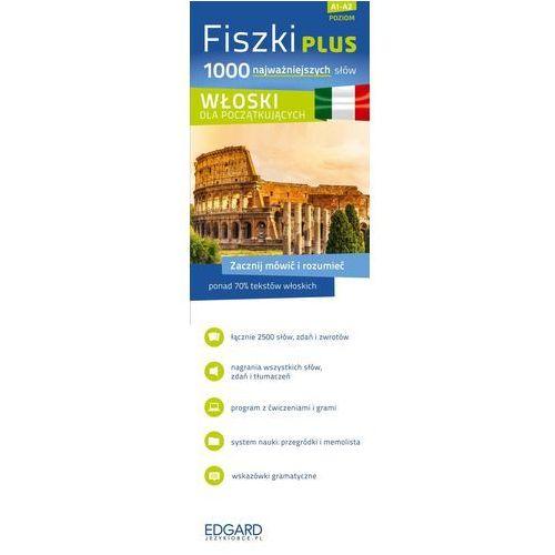 FISZKI PLUS 1000 NAJWAŻNIEJSZYCH SŁÓW WŁOSKI DLA POCZĄTKUJĄCYCH + CD (ISBN 9788377884416)