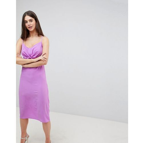 bow front midi dress - purple, Ax paris