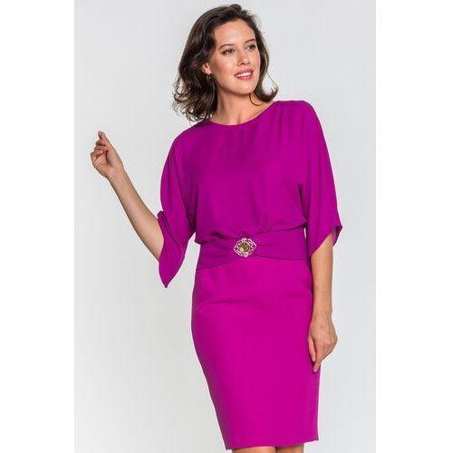Fioletowa sukienka Francesca - L'ame de Femme