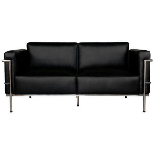 Sofa 2-osobowa soft gc czarna skóra modern house bogata chata marki D2.design