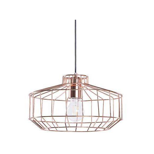 Lampa miedziana - sufitowa - żyrandol - lampa wisząca - wabash marki Beliani