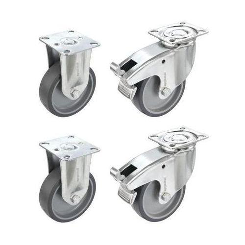 Proroll Zestaw termoplastycznego ogumienia z elastomeru, 2 rolki skrętne z podwójną blok