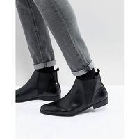 leather chelsea boots in black - black marki Zign