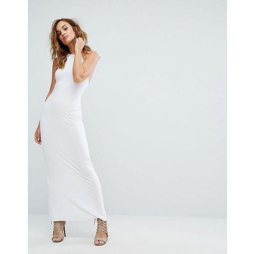 Boohoo Halterneck Maxi Dress - White