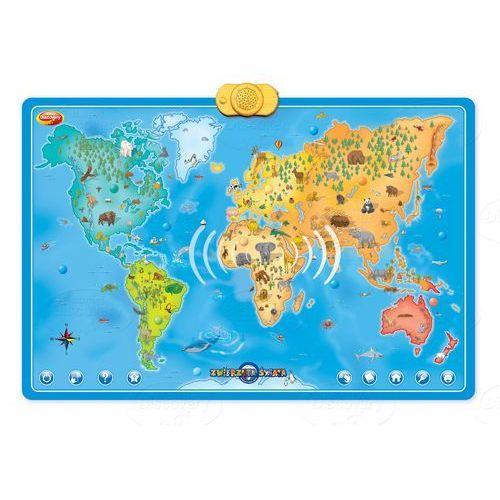 Interaktywna mapa świata zwierzęta , marki Dumel