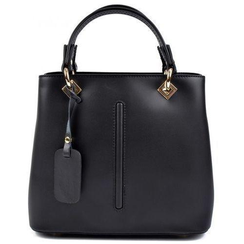 RobertaM torebka czarna, kolor czarny