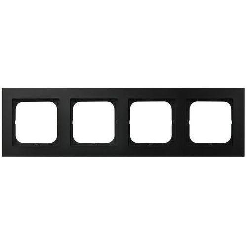 Ramka poczwórna SONATA Ospel czarny metalik pozioma i pionowa R-4R/33, R-4R/33