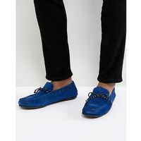 Selected Homme Suede Driving Shoe - Blue